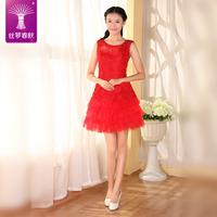 2014 new bridesmaid dress/short  dress/fashion lace dress/ dinner dress