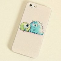 free shipping new Monster University Design Cartoon hard back Case for iphone 5 5s 5c,for apple iphone 4 4s lovely 3D Cute case