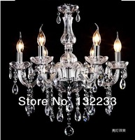 6 Bulbs European Candle luxury Crystal Chandeliers Ceiling Bedroom Living Room lights & lighting Modern E14 Retail Wholesale