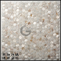 Middot . natural shell mosaic hexagonal