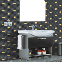 Mosaic hexagon tv backdrop wall tile bathroom tile timber