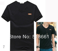 Free shipping  men t shirts,men clothes,short shirts,V-neck,man wear,shirts for men,shirts for boys, M-XXL