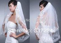 2 Layer White Wedding Bridal Bride Bridesmaid Girls Elegant Lace Veil Comb