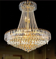 Fashion stair lamp modern fashion crystal restaurant  hall pendant light large Continental stairs A5008
