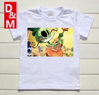 Cotton short sleeve children t shirts,cute cartoon,game boys girls t-shirt figure kids wear 2014 new summer craze skull