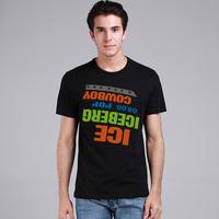 Iceberg Logo Design 2014 Brand Fashion Men T-shirt Gentleman t shrit Short Sleeve Tshirt