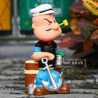 Classic Doll Toy Spinach POPEYE Piggy Bank Storage Box Model Birthday gift Gift