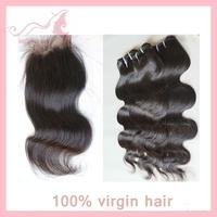 Grade 5A Brazilian Virgin Hair Weaving Body Wave 3bundles with a closure queen hair products free shipping GALI Queen Hair