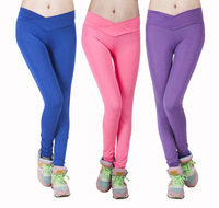 2014 new candy fluorescent leggings was thin v- waisted leggings factory wholesale size code