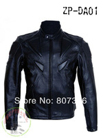 Free shipping Men PU leather jacket, professional racing jacket motorcycle jacket motorcycle delivery 5 sets of protective gear