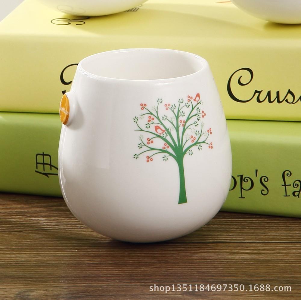 Free shipping New 2014 Zakka Creative plant motifs printed ceramic cup/ tumbler model Coffee mug/Fashion creative cup(China (Mainland))