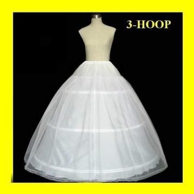 Vendita calda 50% di sconto 3 hoop abito da ballo osso pieno crinolina sottoveste da sposa gonna slip nuovo h-3