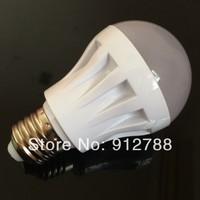 6unitsx Free shipping Factory direct E27 screw 220V~240V high light efficiency 3W or 5W led energy saving lamp bulb