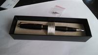 Grind arenaceous black rod gold pen ink 23 k gold fountain pen