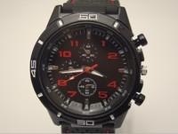 Freeshipping 50pcs/lot high quality black band car racing sports men quartz watches without logos silicone band,quartz movement