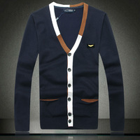 2014 spring cardigan male fashion personality wool cardigan set