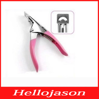 6227 Free shipping for retail by China post  Pink Manicure Tool Acrylic UV Gel False Nail Clipper /Nail Edge Cutter
