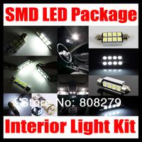 12 pcs White Canbus LED SMD Interior lights kit for VW Golf 5 V GTI GT R32