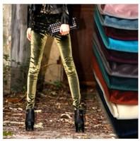 Korea Autumn and winter new gold velvet medium thick elastic spandex leggings slim thin section pants