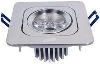 Recessed LED spotlights Wholesale 3W LED Downlights warm white  led rectangle ceiling light AC85-265V energy-efficient 9616-3