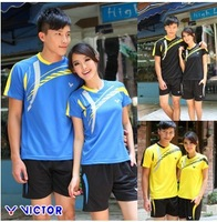 New arrive Round collar badminton clothes suit men's badminton clothes you short