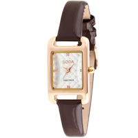 Free Shipping Women Quartz Leather Strap Watches 2014 Newest Korean Corium Rhinestone Casual Analog Relogio Wristwatches
