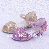 New 2014 Children/Kids Sandals for Girls Princess Girls Sandals High-heeled Latin Dance Summer Shoes for Girls Free ShippingA123