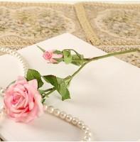 K1159 10pcs High artificial flower rose  handmade decoration fabric flower