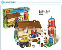 learning & education Banbao Happy Farm series 8569  Animals Farms 590pcs Building Block Set Children Bricks Toy Lego compatible