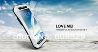 Original LOVE MEI Extreme Small Waist Powerful life Waterproof Dropproof Metal Case For Samsung Galaxy Note 2 N7100 ,free ship