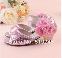 New 2014 Children/Kids Sandals for Girls Princess Girls Sandals High-heeled Latin Dance Summer Shoes for Girls Free ShippingA125