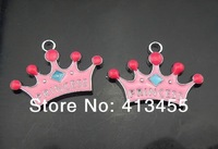 New 100pcs/lot  lovely crown hang charm pendant accessories fit for diy phone strips