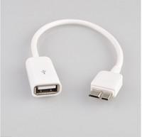 Free Shipping Micro USB B 3.0 Host USB OTG Cable for Samsung Galaxy Note 3 N900 N9000 N9002 N9005 N9009 OTG Cbale Adapter White