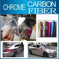 "40x152CM 16""x60"" Car Chrome Carbon Fiber Sticker Aluminum Sticker Car Wrap Sticker Mirror Film Polished Vinyl Car Carbon Fiber"