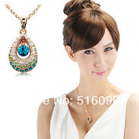 Romantic style jewelry wholesale newest Tianzhu Princess Angel Tears crystal necklace pendant for women made with alloy