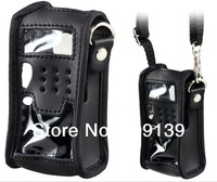 Genuine Leather Protective Case for BF2cr5R Walkie-Talkie (Black)