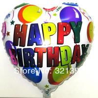 heart shape  helium balloon birthday party aluminum foil balloon automatic seal hot-selling