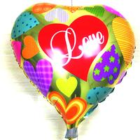 hot sale free shipping helium balloon aluminum balloon decoration aluminum foil heart love balloon