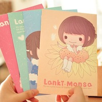 Kawaii stationery,Dream girl design colorful notebook,notebooks for kids,wholesales(SS-6324)