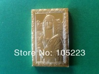 Free shipping & wholesales Leonardo Da Vinci Mona Lisa high quality gold plated bar 100pcs/lot