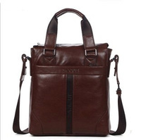 First layer of cowhide handbag cross body shoulder bag commercial office genuine leather man bag 2014 bags 3041-3