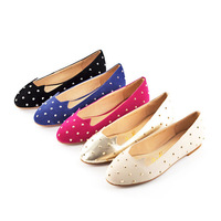 PDS-1 Europe United States Hot Sell Flat Sheet Metal Rivet Shoes Colorful Cute Comfortable Women's Casual Dress Wear Shoes