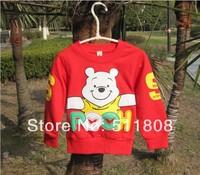 Kids clothes bear Hoodies Sweatshirts Cartoon clothing 4 pcs baby boy girl clothes
