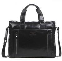 Calf skin brand handbag laptop bag business bag Briefcase men messenger bag genuine leather man bag 3072-1