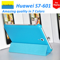 Free shipping !!!High quality original Case for huawei MediaPad 7 Vogue S7-601 7 inch Ultra-thin +Screen protector +Stylus Pen