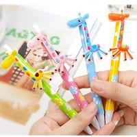 10pcs/lot Cute Kawaii Cartoon Deer Ballpoint Pens Lovely Ball Pen Korean Stationery Novelty Items gift Free shipping 019
