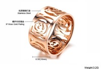 3 pcs/ lot 2014 camellia hotsale rose gold filled  2014 fashion jewelry for women  ring for women women rings titanium ring