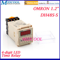 "OMRON 1.2"" DH48S-S 4-digit LED Digital Recirculation Time Relay AC220V 5A"