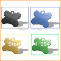 Hot Selling Free Shipping 38mm*25mm 200 pcs/lot Mix Colors Aluminum Alloy  Dog Bone Shape Pendant Colorful Pet tags Pet ID Tags