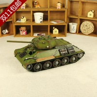 World war ii mini-tank vintage iron cars decoration home big